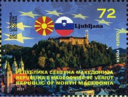 MACEDONIA NORTH 2021  MACEDONIA IN EU LJUBLJANA SLOVENIA MNH - Macedonia