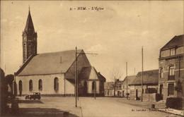 CPA Hem Nord, L'Eglise, Straßenpartie Mit Blick Auf Die Kirche - Andere Gemeenten