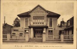 CPA Hem Nord, Bifur, La Salle Des Fêtes Rue De Lille - Andere Gemeenten