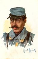 Fantassin 1915. Dessin D'Albert Beertz - Guerra 1914-18