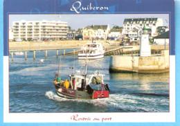 Quiberon-Morbihan-Port Maria,embarcadère Pour Les îles:Belle-Ile-Houat,Hoëdic-Bateau De Pêche Datc'h Mat-Rentrée Au Port - Quiberon