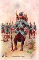 Infanterie De Ligne. Dessin De Léon Hingré 1915 - Oorlog 1914-18