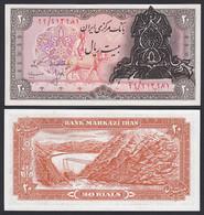 IRAN (Persien) - 20 RIALS Banknote O.J. Pick 110a UNC (1)  (19764 - Otros – Asia