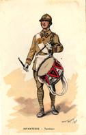 Tambour D'infanterie. Dessin De Maurice Toussaint, 1938 - Regimenten