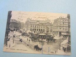CPA FRANCE, Département 75. PARIS/2. Gare Saint-Lazare. Voyagée En 1903. - Unclassified