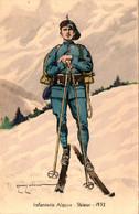 Infanterie Alpine. Skieur 1932, Dessin D'Edmond Lajoux - Regiments