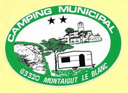 AUTOCOLLANT STICKER - CAMPING MUNICIPAL - 63320 MONTAIGUT LE BLANC - PUY-DE-DÔME - Stickers