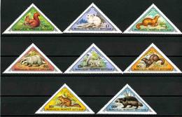 Mongolia 1973 MiNr. 797 - 804  Mongolei Animals 8v MNH ** 6,00€ - Mongolia