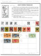Saint Pierre Et Miquelon 1909/63  46 Timbres Différents  4 €   (cote 49,20 €  46 Valeurs) - Gebraucht