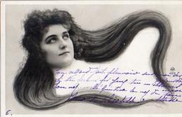 Femme Photo 925, Cheveux Longs Artiste Cabaret 1900 NPG 117/9 - Women