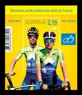 Slovenia 2020 Mih. 1460 (Bl.130) Cycling. Slovenia's Tour De France Heroes Tadej Pogačar And Primož Roglič MNH ** - Slowenien