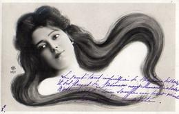 Femme Photo 927, Cheveux Longs Artiste Cabaret 1900 NPG 117/7 - Women