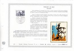 """"""" VIOLLET-LE-DUC / NOTRE DAME DE PARIS """" Sur Document Artistique Philatélique 1er Jour N°té Rare De 1980. N° YT 2039 FDC - Documents Of Postal Services"""