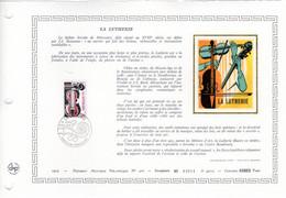 """"""" LA LUTHERIE """" Sur Document Artistique Philat 1er Jour CERES En Soie RARE (4900 Ex) De 1979. N° YT 2072. Parf état. FDC - Musik"""