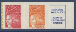 N° 16b Marianne De Luquet Auto Adhesif Faciale LP + 1,00 F + Vignette - Luchtpost