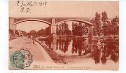 77 - MORET Sur LOING - Vue Sur Le LOING Et Le Viaduc - Animée - 1905 (W29) - Moret Sur Loing