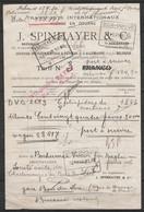 Bon De Transport J.Spinhayer De Verviers 8 Février 1906 Pour Machines Contre-remboursement - Càd CdF [VERVIERS-OUEST/-8 - 1895-1913