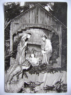 CRIB Nativity Krippe Créche - Christmas Greeting Card - 1960s Unused - Unclassified