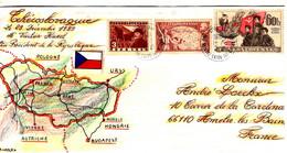 46570 - Carte  Géographique  Réalisée  à La Main - Cartas