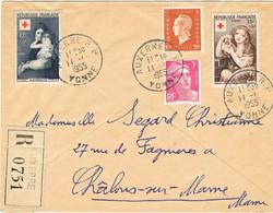 PAIRE DE CROIX ROUGE 1006/1007 SUR RECOMMANDE - 1921-1960: Periodo Moderno