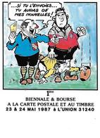 L'UNION - Mai 1987 - Bourse Cartes Postale - Si Tu L'envoies Tu Auras De Mes Nouvelles - Rugby Arbitre ASPTT Ballon - Manifestazioni