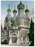 (OO 22) France - Niçe - Russian Church / Eglise Russe (posted 1953) - Kerken En Kathedralen