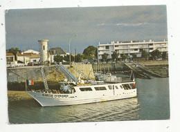 Cp, Bateau , 85 , SAINT GILLES CROIX DE VIE, Voyagée 1987 , LE GARCIE FERRANDE Reliant St Gilles à L'Ile D'Yeu - Veerboten