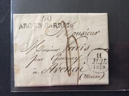 LAC De ARC En BARROIS Pour Avenai - 1828- - 1801-1848: Precursors XIX