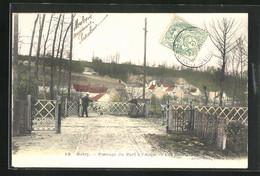 CPA Butry, Passage Du Port A L`Auge - Butry