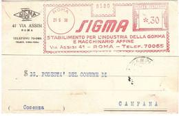 21.6.38 SIGMA INDUSTRIA GOMMA ROMA - Machine Stamps (ATM)