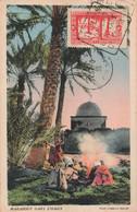 Algérie Marabout Dans L' Oasis + Timbre Cachet 1936 - Ohne Zuordnung