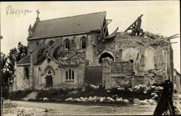 Photo CPA Bourgogne Marne, Zerstörte Kirche, Kriegszerstörungen, I WK - Otros Municipios