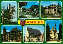 80 - Amiens - Multivues - Automobiles - Blasons - CPM - Voir Scans Recto-Verso - Amiens