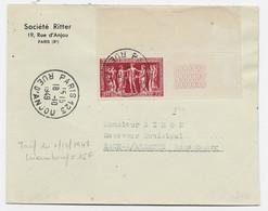 N°849  DBF SEUL LETTRE PARIS 123 18.10.1949  POUR LUXEMBOURG AU TARIF SPECIAL PEU COMMUN - 1921-1960: Periodo Moderno