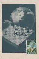 YUGOSLAVIA 1950  CHESS Olympics Maximum Card ,5 Din, And Commem Chess Postmark - Schach