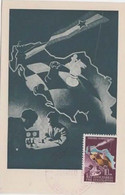 YUGOSLAVIA 1950  CHESS Olympics Maximum Card ,10 Din, And Commem Chess Postmark - Schach