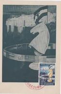 YUGOSLAVIA 1950  CHESS Olympics Maximum Card ,20 Din, And Commem Chess Postmark - Schach