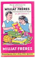 Buvard  10.6 X 17.5 Pâtes MILLIAT FRERES (3)  Ses Bons Points  Ses Cadeaux  Camion Ballon Poupée Couteau Suisse - Food