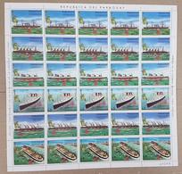 EC138 1986 PARAGUAY SHIPS STATUE OF LIBERTY MICHEL 16 EU BIG SH FOLDED IN 2 MNH - Ships