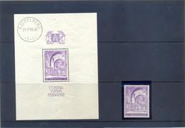 BL9 + 477A Postgaaf ** MNH Prachtig 41 Côte - Blocks & Kleinbögen 1924-1960
