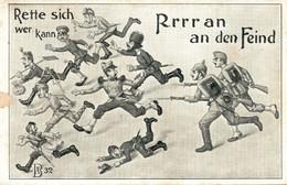 CPA - WW1 WWI Propaganda Propagande - Umoristica Satirica, Humour Satirique - NV - PV748 - SCOLLATA!!! - Oorlog 1914-18