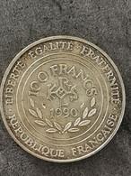 100 FRANCS CHARLEMAGNE 1990 ARGENT FRANCE / SILVER - N. 100 Francs