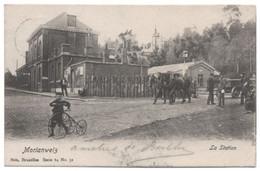 MORLANWELZ 1903 La GARE Passage à Niveau Station Animée Enfant Bicyclette Attelage Chevaux / Ed. Nels Série 64 N° 32 - Stazioni Senza Treni