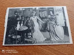 RARE CPA   FANTAISIE  // PUBLICITE// L INTERDICTION  DE L ABSINTHE EN SUISSE - Werbepostkarten