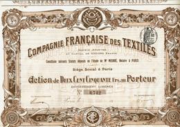 75-TEXTILES. CIE FRANCAISE DES ... - Sonstige