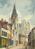 Barday AMIENS  L'Ancienne Chaussée Sant Leu RV  Barré & Dayez 2060 C Timbre Cachet Flamme Amiens - Amiens