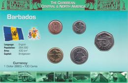 BARBADOS - Set 5 Coins - Edelweiss Coins - Barbados