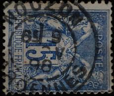 -Sage N°101  Type II  Ob  ( CAD  ) NOUZON. ( 07 )  1898. - 1876-1898 Sage (Type II)