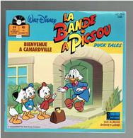 LA BANDE A PICSOU 1987 BIENVENUE A CANARDVILLE DUCK TALES LIVRE DISQUE WALT DISNEY - Bambini