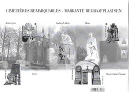 Cimetières Remarquables (non Dentelé-non Numéroté) - Black-and-white Panes